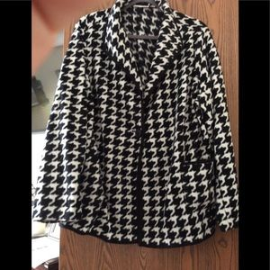 Susan Graver Houndstooth Fleece Jacket Size 2X
